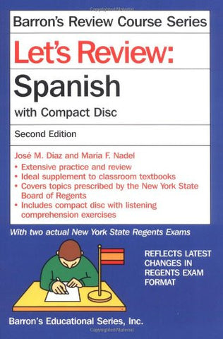 Let's Review Spanish: with Compact Disc (Barron's Review Course)
