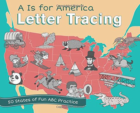 A is for America Letter Tracing: 50 States of Fun ABC Practice