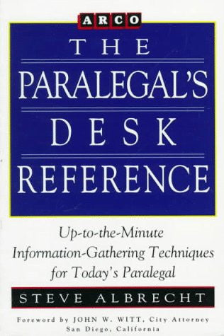 Paralegal Desk Reference 1E (Paralegal's Desk Reference)