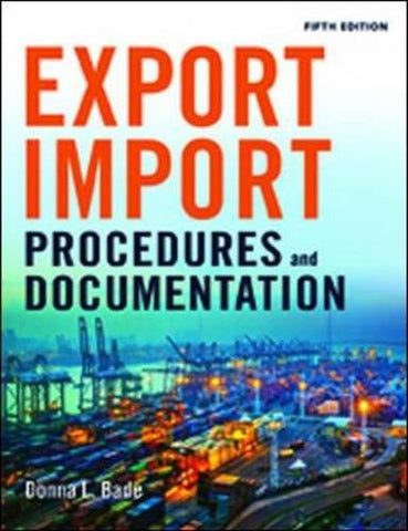 Export/Import Procedures and Documentation (UK Professional Business Management / Business)