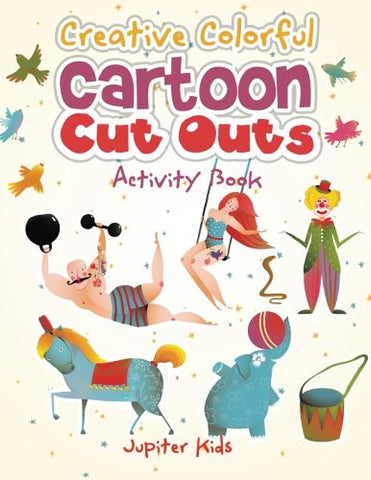 Creative Colorful Cartoon Cut Outs Activity Book