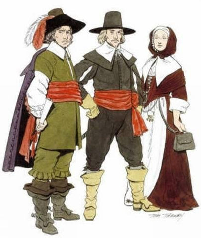 Cavalier and Puritan Fashions (Dover Fashion Coloring Book)