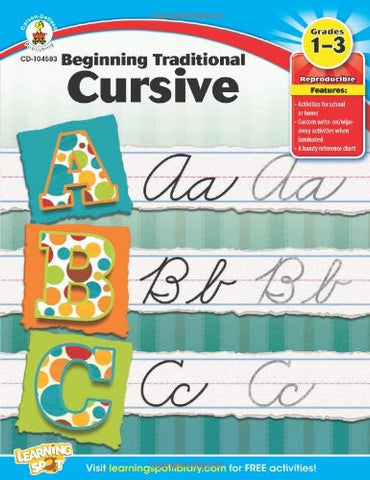 Beginning Traditional Cursive, Grades 1 - 3 (Learning Spot)