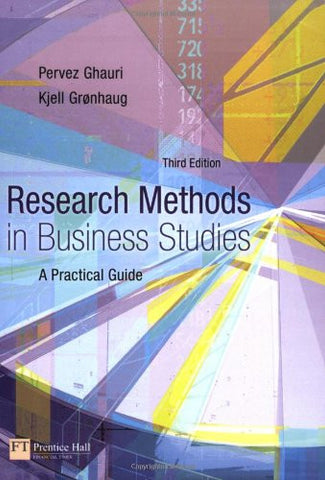 Research Methods in Business Studies (4th Edition)