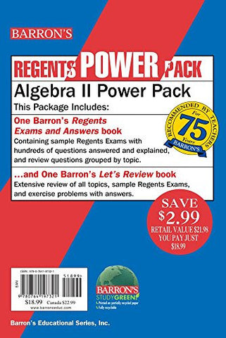 Algebra II Power Pack (Regents Power Packs)
