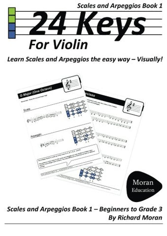24 Keys Scales And Arpeggios For Violin - Book 1