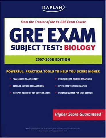 Kaplan GRE Biology, 2007-2008 Edition