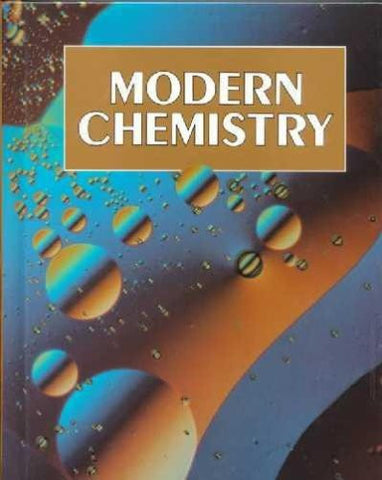 Holt Modern Chemistry: Student Edition Grades 9-12 1999