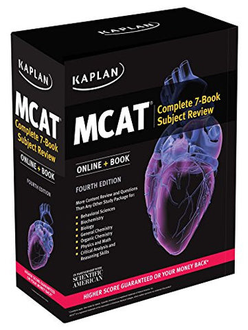 Kaplan MCAT Complete 7-Book Subject Review: Created for MCAT 2015 (Kaplan Test Prep)