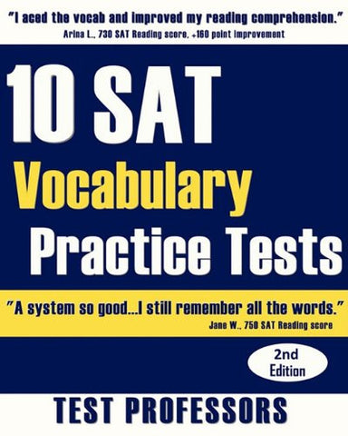 10 SAT Vocabulary Practice Tests