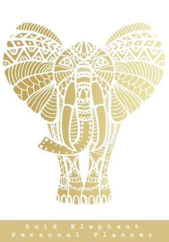 Gold Elephant Personal Planner: To Do List, Notepad, and Planner with Calendar