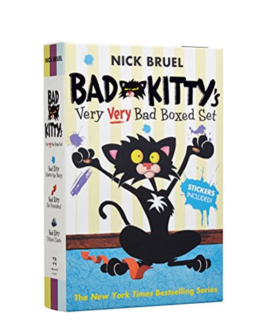 Bad Kitty's Very Very Bad Boxed Set (#2): Bad Kitty Meets the Baby, Bad Kitty for President, and Bad Kitty School Days - Includes Stickers!