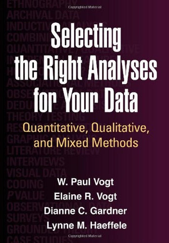 Selecting the Right Analyses for Your Data: Quantitative, Qualitative, and Mixed Methods
