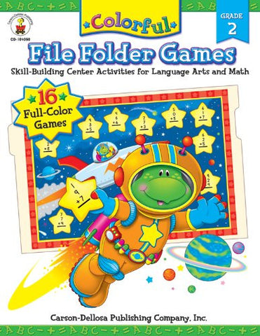 Colorful File Folder Games, Grade 2: Skill-Building Center Activities for Language Arts and Math
