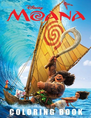 Disney MOANA: (Color & Activity Book) 50 Pages with Adventures.