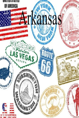 Arkansas (6 x 9 Blank Travel Journal, Diary & Notebook)