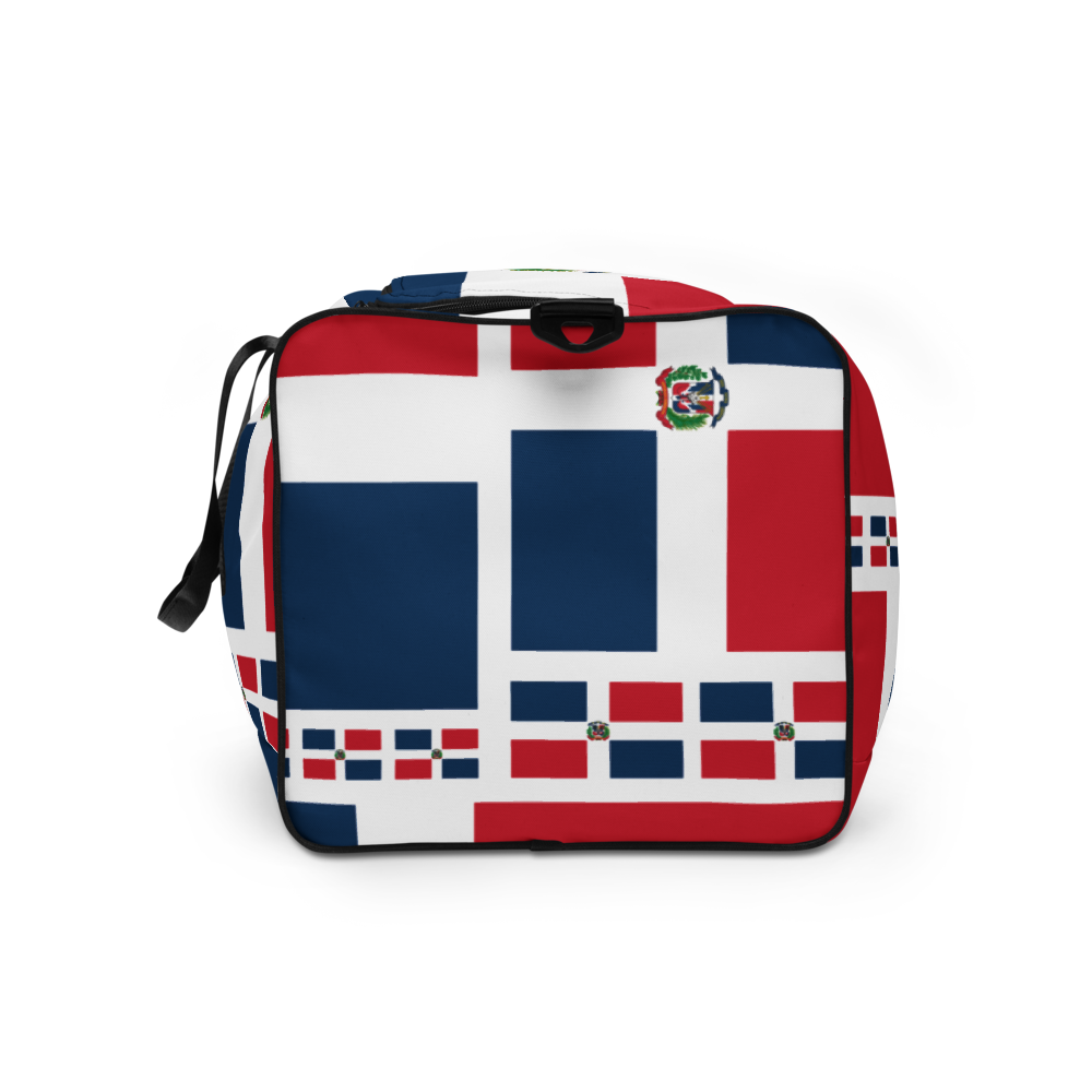 Dominican Republic Flag All-Over Collage Duffle Bag  - 2020 - DominicanGirlfriend.com - Frases Dominicanas - República Dominicana Lifestyle Graphic T-Shirts Streetwear & Accessories - New York - Bronx - Washington Heights - Miami - Florida - Boca Chica - USA - Dominican Clothing