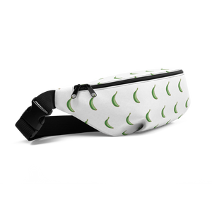 Platano All-Over Fanny Pack (White)  - 2020 - DominicanGirlfriend.com - Frases Dominicanas - República Dominicana Lifestyle Graphic T-Shirts Streetwear & Accessories - New York - Bronx - Washington Heights - Miami - Florida - Boca Chica - USA - Dominican Clothing