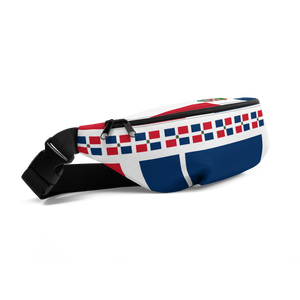 Dominican Republic Flag All-Over Collage Fanny Pack  - 2020 - DominicanGirlfriend.com - Frases Dominicanas - República Dominicana Lifestyle Graphic T-Shirts Streetwear & Accessories - New York - Bronx - Washington Heights - Miami - Florida - Boca Chica - USA - Dominican Clothing