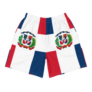 Dominican Republic Flag Men's Athletic Long Shorts  - 2020 - DominicanGirlfriend.com - Frases Dominicanas - República Dominicana Lifestyle Graphic T-Shirts Streetwear & Accessories - New York - Bronx - Washington Heights - Miami - Florida - Boca Chica - USA - Dominican Clothing