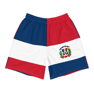 Geometric Dominican Republic Men's Athletic Long Shorts  - 2020 - DominicanGirlfriend.com - Frases Dominicanas - República Dominicana Lifestyle Graphic T-Shirts Streetwear & Accessories - New York - Bronx - Washington Heights - Miami - Florida - Boca Chica - USA - Dominican Clothing