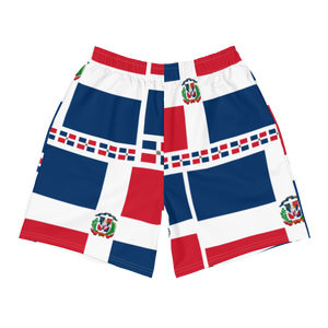Dominican Republic Flag All-Over Collage Men's Athletic Long Shorts  - 2020 - DominicanGirlfriend.com - Frases Dominicanas - República Dominicana Lifestyle Graphic T-Shirts Streetwear & Accessories - New York - Bronx - Washington Heights - Miami - Florida - Boca Chica - USA - Dominican Clothing