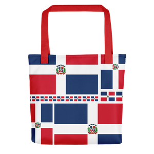 Dominican Republic Flag All-Over Collage Tote Bag  - 2020 - DominicanGirlfriend.com - Frases Dominicanas - República Dominicana Lifestyle Graphic T-Shirts Streetwear & Accessories - New York - Bronx - Washington Heights - Miami - Florida - Boca Chica - USA - Dominican Clothing