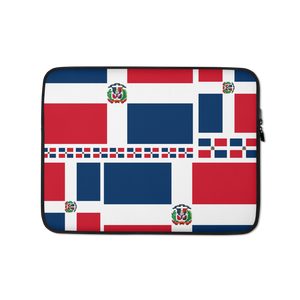 Dominican Republic Flag All-Over Collage Laptop Sleeve  - 2020 - DominicanGirlfriend.com - Frases Dominicanas - República Dominicana Lifestyle Graphic T-Shirts Streetwear & Accessories - New York - Bronx - Washington Heights - Miami - Florida - Boca Chica - USA - Dominican Clothing