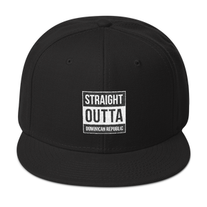 Straight Outta Dominican Republic Snapback  - 2020 - DominicanGirlfriend.com - Frases Dominicanas - República Dominicana Lifestyle Graphic T-Shirts Streetwear & Accessories - New York - Bronx - Washington Heights - Miami - Florida - Boca Chica - USA - Dominican Clothing