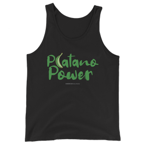 Platano Power Tank Top  - 2020 - DominicanGirlfriend.com - Frases Dominicanas - República Dominicana Lifestyle Graphic T-Shirts Streetwear & Accessories - New York - Bronx - Washington Heights - Miami - Florida - Boca Chica - USA - Dominican Clothing