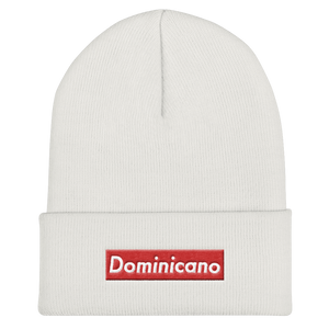 Dominicano Cuffed Beanie  - 2020 - DominicanGirlfriend.com - Frases Dominicanas - República Dominicana Lifestyle Graphic T-Shirts Streetwear & Accessories - New York - Bronx - Washington Heights - Miami - Florida - Boca Chica - USA - Dominican Clothing
