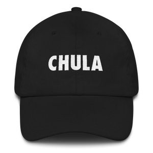 Chula Dad Hat  - 2020 - DominicanGirlfriend.com - Frases Dominicanas - República Dominicana Lifestyle Graphic T-Shirts Streetwear & Accessories - New York - Bronx - Washington Heights - Miami - Florida - Boca Chica - USA - Dominican Clothing