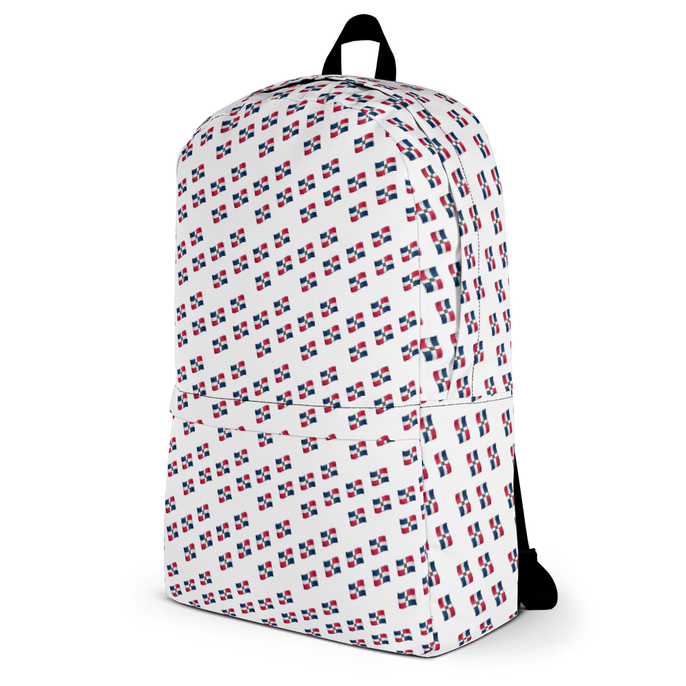 All-Over Emoji República Dominicana Flag Backpack  - 2020 - DominicanGirlfriend.com - Frases Dominicanas - República Dominicana Lifestyle Graphic T-Shirts Streetwear & Accessories - New York - Bronx - Washington Heights - Miami - Florida - Boca Chica - USA - Dominican Clothing