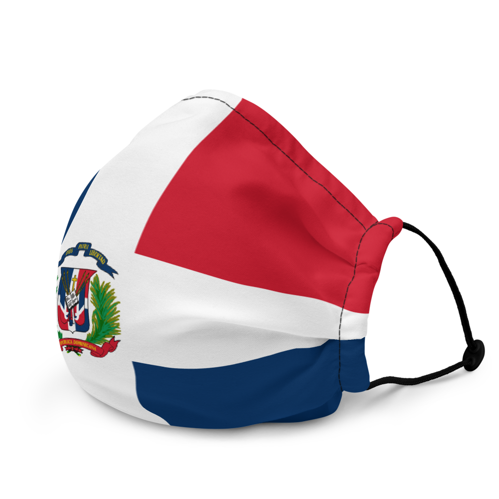 Dominican Republic Flag Washable Face Mask  - 2020 - DominicanGirlfriend.com - Frases Dominicanas - República Dominicana Lifestyle Graphic T-Shirts Streetwear & Accessories - New York - Bronx - Washington Heights - Miami - Florida - Boca Chica - USA - Dominican Clothing