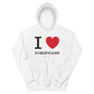 I Love Dominicans Unisex Hoodie  - 2020 - DominicanGirlfriend.com - Frases Dominicanas - República Dominicana Lifestyle Graphic T-Shirts Streetwear & Accessories - New York - Bronx - Washington Heights - Miami - Florida - Boca Chica - USA - Dominican Clothing