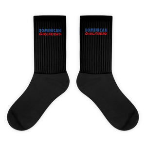 Dominican Girlfriend Socks  - 2020 - DominicanGirlfriend.com - Frases Dominicanas - República Dominicana Lifestyle Graphic T-Shirts Streetwear & Accessories - New York - Bronx - Washington Heights - Miami - Florida - Boca Chica - USA - Dominican Clothing