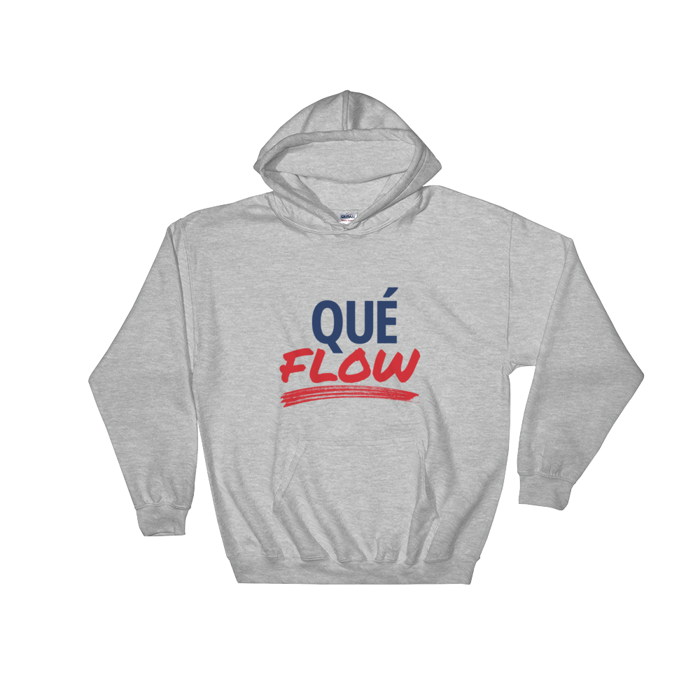 Que Flow Unisex Hoodie  - 2020 - DominicanGirlfriend.com - Frases Dominicanas - República Dominicana Lifestyle Graphic T-Shirts Streetwear & Accessories - New York - Bronx - Washington Heights - Miami - Florida - Boca Chica - USA - Dominican Clothing