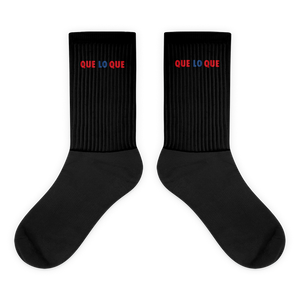 Que Lo Que Socks  - 2020 - DominicanGirlfriend.com - Frases Dominicanas - República Dominicana Lifestyle Graphic T-Shirts Streetwear & Accessories - New York - Bronx - Washington Heights - Miami - Florida - Boca Chica - USA - Dominican Clothing
