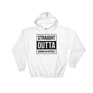 Straight Outta Dominican Republic Unisex Hoodie  - 2020 - DominicanGirlfriend.com - Frases Dominicanas - República Dominicana Lifestyle Graphic T-Shirts Streetwear & Accessories - New York - Bronx - Washington Heights - Miami - Florida - Boca Chica - USA - Dominican Clothing