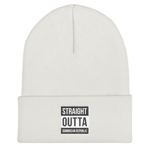 Straight Outta Dominican Republic Cuffed Beanie  - 2020 - DominicanGirlfriend.com - Frases Dominicanas - República Dominicana Lifestyle Graphic T-Shirts Streetwear & Accessories - New York - Bronx - Washington Heights - Miami - Florida - Boca Chica - USA - Dominican Clothing