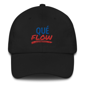 Que Flow Dad Hat  - 2020 - DominicanGirlfriend.com - Frases Dominicanas - República Dominicana Lifestyle Graphic T-Shirts Streetwear & Accessories - New York - Bronx - Washington Heights - Miami - Florida - Boca Chica - USA - Dominican Clothing