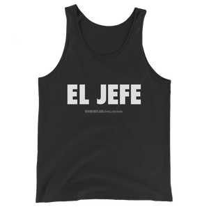 El Jefe Tank Top  - 2020 - DominicanGirlfriend.com - Frases Dominicanas - República Dominicana Lifestyle Graphic T-Shirts Streetwear & Accessories - New York - Bronx - Washington Heights - Miami - Florida - Boca Chica - USA - Dominican Clothing