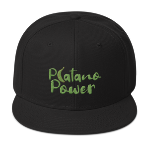 Platano Power Snapback Hat  - 2020 - DominicanGirlfriend.com - Frases Dominicanas - República Dominicana Lifestyle Graphic T-Shirts Streetwear & Accessories - New York - Bronx - Washington Heights - Miami - Florida - Boca Chica - USA - Dominican Clothing