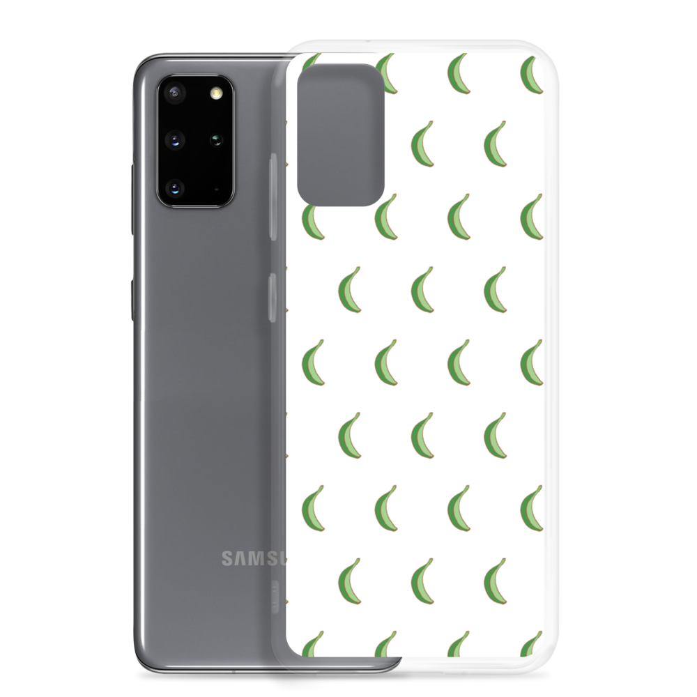 Platano All-Over Samsung Case (White)  - 2020 - DominicanGirlfriend.com - Frases Dominicanas - República Dominicana Lifestyle Graphic T-Shirts Streetwear & Accessories - New York - Bronx - Washington Heights - Miami - Florida - Boca Chica - USA - Dominican Clothing