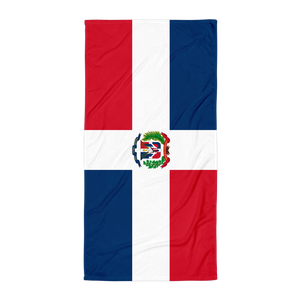 Dominican Republic Flag Towel  - 2020 - DominicanGirlfriend.com - Frases Dominicanas - República Dominicana Lifestyle Graphic T-Shirts Streetwear & Accessories - New York - Bronx - Washington Heights - Miami - Florida - Boca Chica - USA - Dominican Clothing