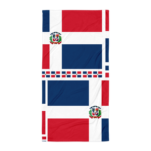 Dominican Republic Flag All-Over Collage Large Towel  - 2020 - DominicanGirlfriend.com - Frases Dominicanas - República Dominicana Lifestyle Graphic T-Shirts Streetwear & Accessories - New York - Bronx - Washington Heights - Miami - Florida - Boca Chica - USA - Dominican Clothing