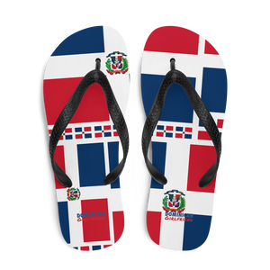 Dominican Republic Flag All-Over Collage Flip-Flops  - 2020 - DominicanGirlfriend.com - Frases Dominicanas - República Dominicana Lifestyle Graphic T-Shirts Streetwear & Accessories - New York - Bronx - Washington Heights - Miami - Florida - Boca Chica - USA - Dominican Clothing