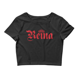 Reina Crop Top  - 2020 - DominicanGirlfriend.com - Frases Dominicanas - República Dominicana Lifestyle Graphic T-Shirts Streetwear & Accessories - New York - Bronx - Washington Heights - Miami - Florida - Boca Chica - USA - Dominican Clothing