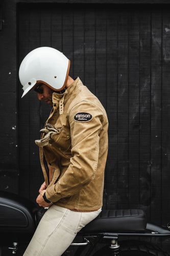 Vanson - Stormer Jacket - Tan Waxed Canvas