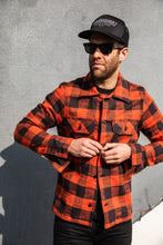 Naked & Famous -Work Shirt - Slubby Buffalo Check -Orange